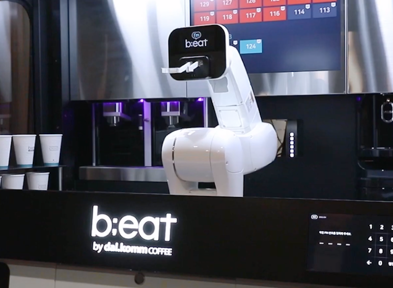 Robot baristas hard at work in South Korea | Robotics Research