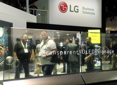 LG launches transparent OLED commercial display in the US