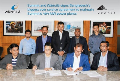 Bangladesh service agreement to maintain Summit's 464 MW power plants