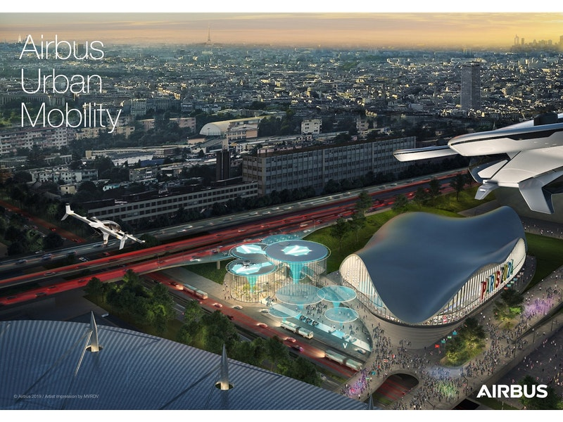 Integration of flying vehicles into urban transport for 2024 Olympics