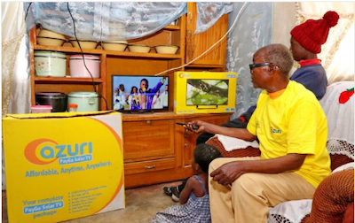 PayGo Solar Satellite TV in Zambia