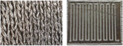 Capability to produce selective plating onto stretchable fabrics