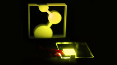 Researchers are developing an efficient OLED consisting of one layer