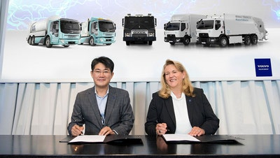 Volvo and Samsung SDI  to develop battery packs for trucks