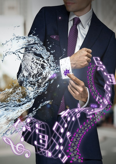 Clothing lets users turn on electronics while turning away bacteria