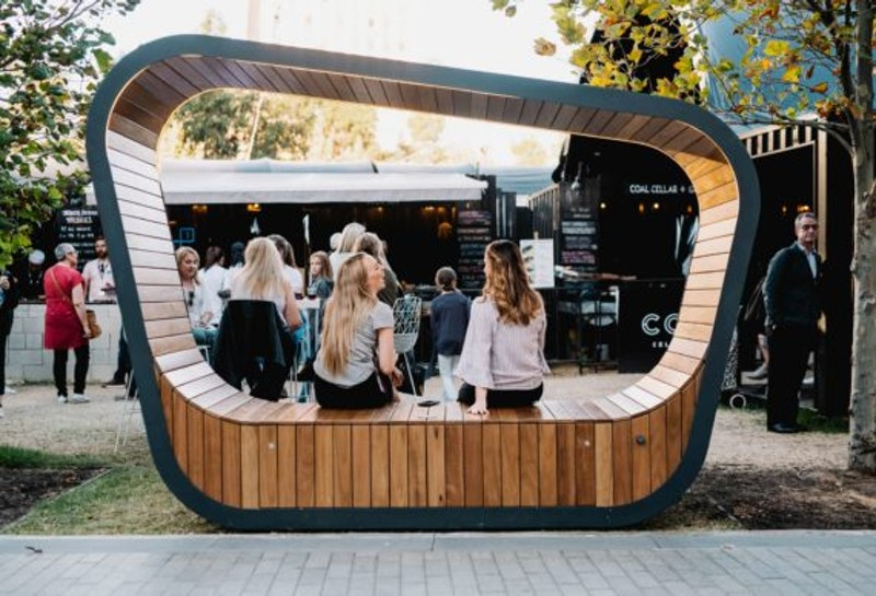 Solar powered furniture for smart cities