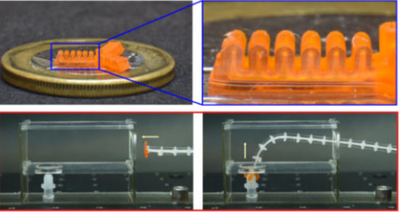 Process flow for high-res 3D printing of mini soft robotic actuators