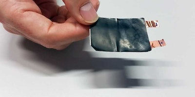 A battery that can be bent, stretched and twisted