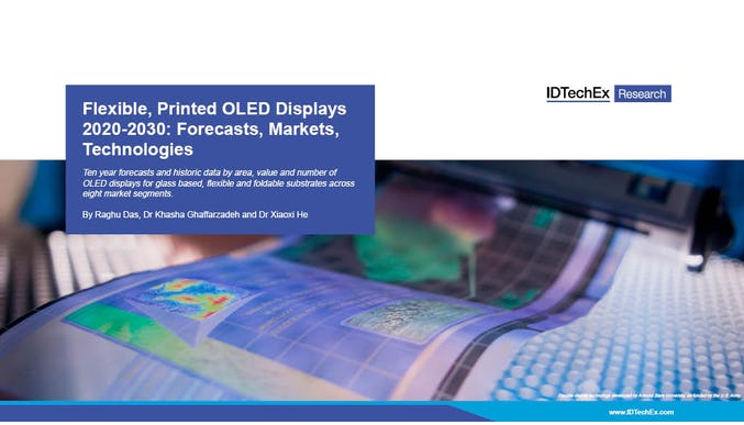 Flexible, Printed OLED Displays 2020-2030: Forecasts, Markets, Technologies
