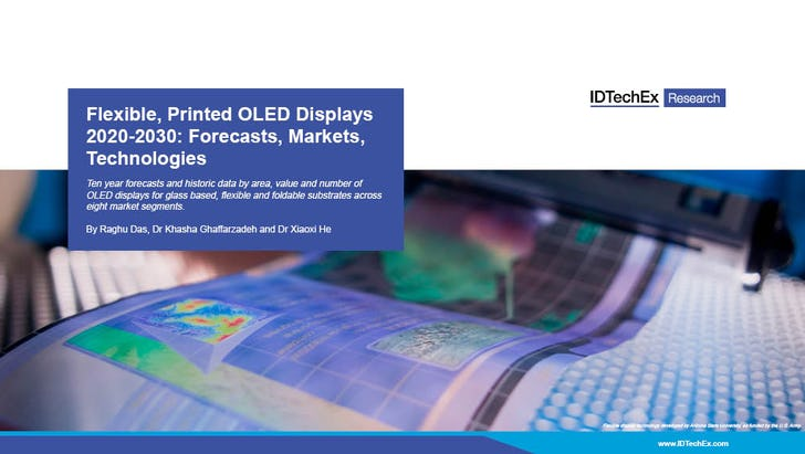 Flexible, gedruckte OLED-Displays 2020-2030: Prognosen, Märkte, Technologien