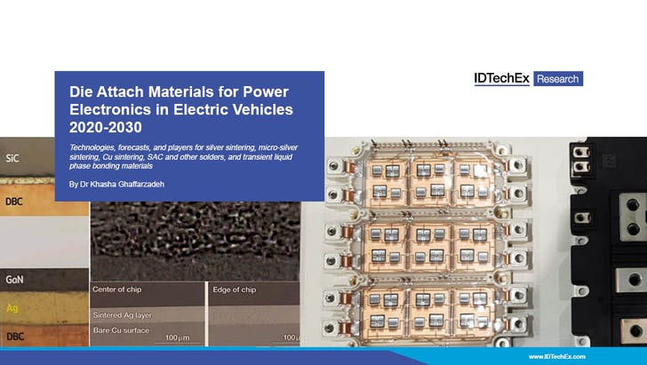 Die Attach Materials For Power Electronics In Electric Vehicles 2020 2030 Idtechex