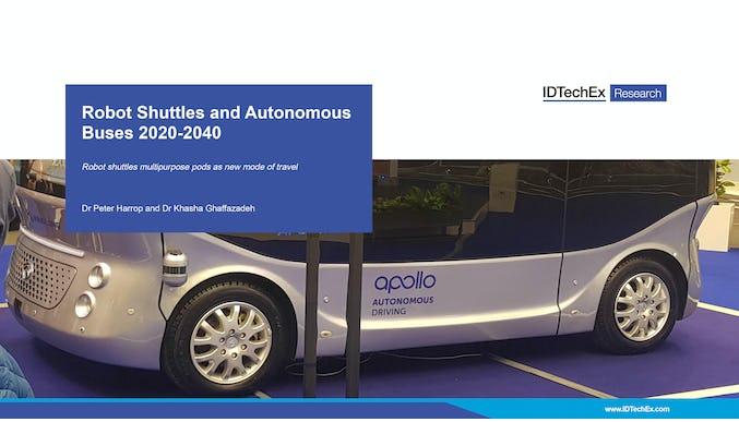 2020-2040年机器人穿梭车和自动驾驶巴士