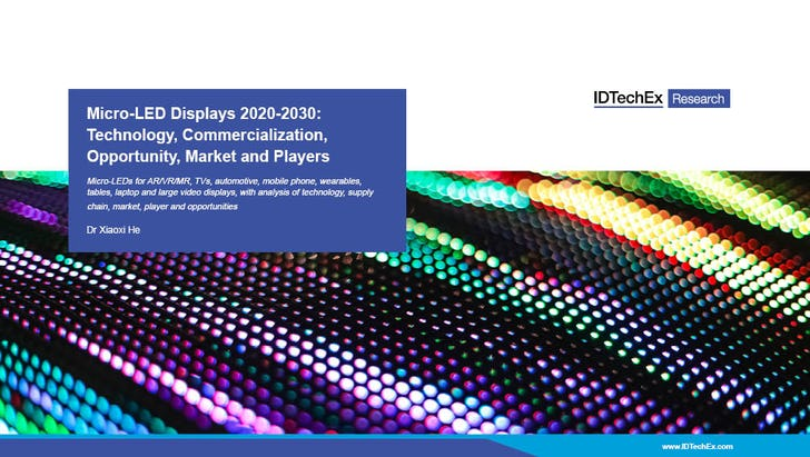 Micro-LED Displays 2020-2030: Technology, Commercialization, Opportunity, Market and Players