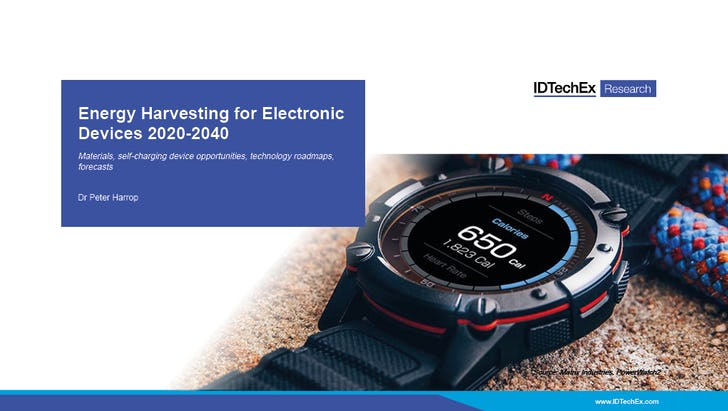 Energy Harvesting for Electronic Devices 2020-2040