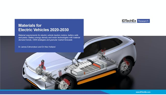 Materials for Electric Vehicles 2020-2030
