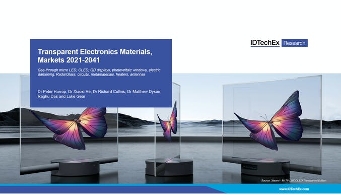 Transparent Electronics Materials, Markets 2021-2041