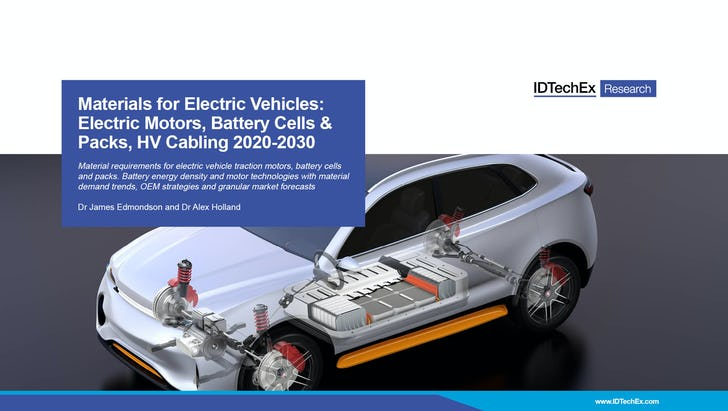 Materials for Electric Vehicles: Electric Motors, Battery Cells & Packs, HV Cabling 2020-2030