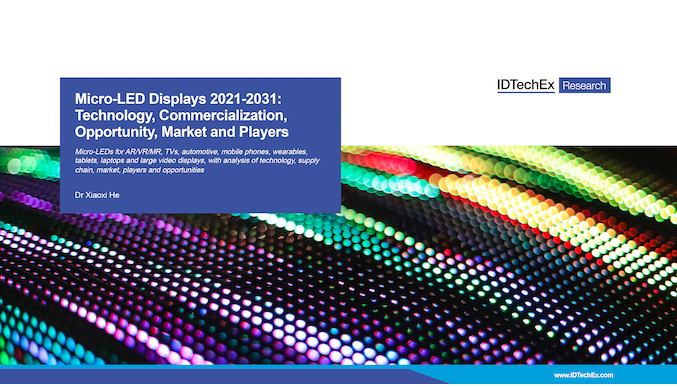 Micro-LED Displays 2021-2031: Technology, Commercialization, Opportunity, Market and Players