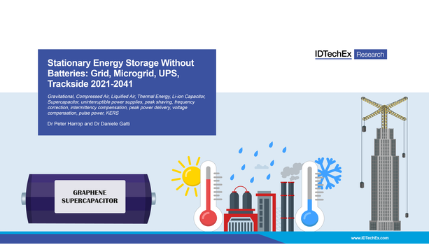 Stationary Energy Storage Without Batteries: Grid, Microgrid, UPS, Trackside 2021-2041